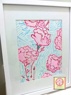 Pi Beta Phi Lilly Pulitzer Inspired Watercolor by SREdesign, $20.00