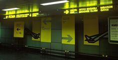 insegne luminose Linate e Malpensa, segnaletica passeggeri ritiro bagagli / baggage claim Aeroporti di Linate e Malpensa