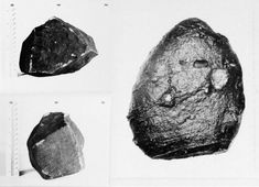 July, 1957 — Shiloh, Ohio: On the first page of the record file kept by the USAF for this photo, the object is identified as a meteorite that is over 100 years old. Yet on the second page of the report, in a note from the department that conducted the physical analysis and minerology report, it states explicitly that it is not a meteorite. | piclectica.com #piclectica