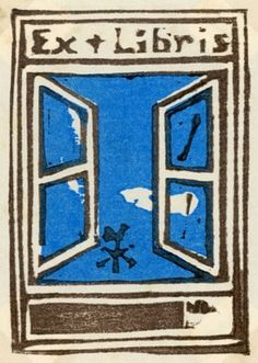 Ex libris by Onchi Koshiro (恩地 孝四郎)
