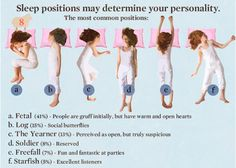 Sleep position = personality? Mine is not pictured here so idk. lol