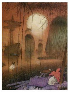 """""""Японские сказки"""" (2002), иллюстрации Кирилла Челушкина"""