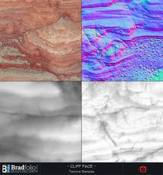 ArtStation - Substance: Red Rock Cliff, Bradford Smith