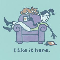 ahhh...reading in a comfy chair = heaven!