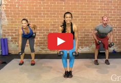 The Fat-Burning, Upper-Body Strength Workout - 50 mins Kettlebell Workouts For Women, At Home Workouts, Morning Workouts, Arm Workouts, Kettlebell Training, Workout Exercises, Workout Routines, Upper Body Strength Workout, Strength Training