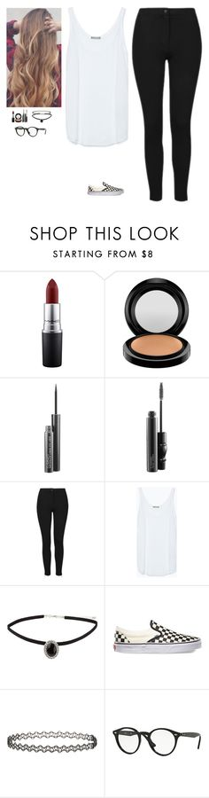 """""""Untitled #576"""" by erin-bittencout on Polyvore featuring moda, MAC Cosmetics, Topshop, Zara, Vans e Ray-Ban"""