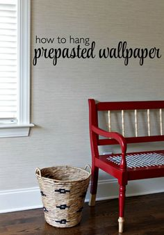 How to hang pre-pasted wallpaper courtesy of Our Fifth House.