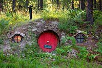 The Hobbit House of Montana...no joke my mom has a gnome home statue that looks exactly like this in her garden lol