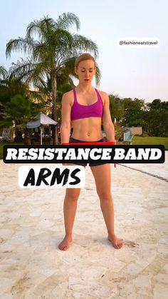 Fitness Workouts, Beach Workouts, At Home Workouts, Resistance Band Exercises, Shoulder Workout, Health And Fitness Tips, Plein Air, Bikini Bodies, Sport