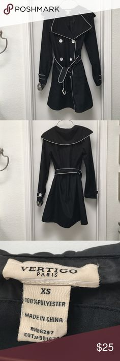 Black and white trench coat size XS Black and white trench coat size XS Vertigo Paris Jackets & Coats Trench Coats