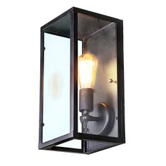 LNC Glass Metal Industrial Wall Sconce Shade(Bulbs not Included)
