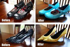 Refashion Your Old Shoes%u201421 Shoe Makeover Ideas!