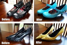 spray paint shoes on pinterest old shoes shoe box and diy. Black Bedroom Furniture Sets. Home Design Ideas