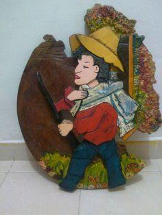 Silletero tallado en madera