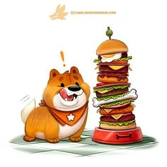 Chowchow Down!  Commissioned from Deviant #cute #art #dog