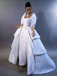 Wedding-Bride-Evening-Silkstone-Barbie-Fashion-Royalty-Candi-Dress-Outfit-Gown