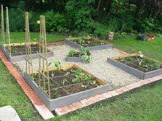Jardin en carrés - Mon jardin aux Hortillons