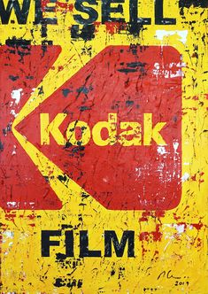 """Marwan Chamaa, """"Kodak"""", 2019, acrylic on canvas, 88 x 124 cm (34.65 x 48.82 inch). All images are used with the permission by the artist. Re-Pinning is permitted, however, please do not distribute, reproduce, reuse in any shape or form without first contacting the artist: marwan@art-factory.us © Marwan Chamaa Kodak Film, First Contact, Reuse, Shapes, Canvas, Gallery, Artist, Image, Canvases"""