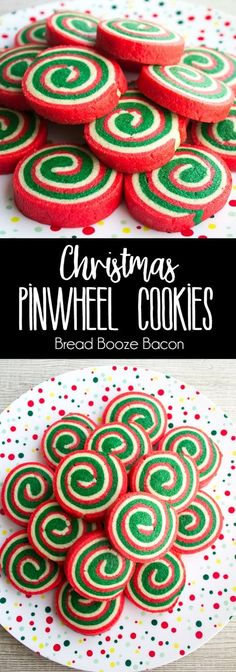 These Christmas Pinwheel Cookies are sure to be the star of your holiday cookie plates! Pinwheel Cookies, Holiday Cookies, Holiday Treats, Christmas Treats, Holiday Recipes, Pinwheel Christmas Cookies, Christmas Recipes, Christmas Boxes, Christmas Biscuits