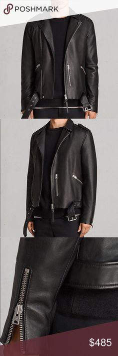 Allsaints Kaho Leather Biker Jacket Size small Allsaints Jackets & Coats Military & Field