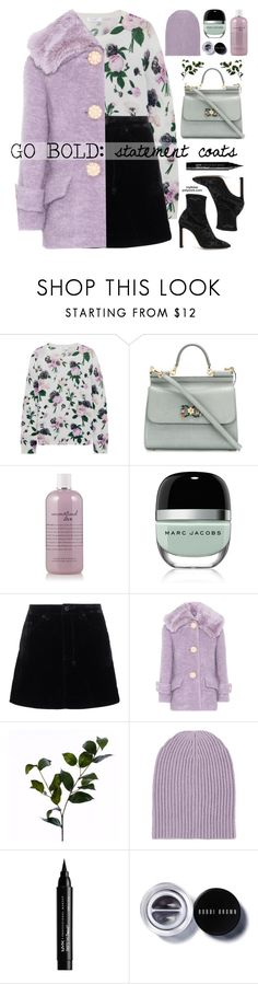"""""""Statement Coats"""" by mylkbar ❤ liked on Polyvore featuring Equipment, Dolce&Gabbana, philosophy, Marc Jacobs, Ksubi, Miu Miu, Wyld Home, Barneys New York, NYX and Bobbi Brown Cosmetics"""