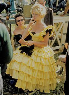 "The Magic of The Old — Brigitte Bardot on the set of ""A Woman Like Satan""..."