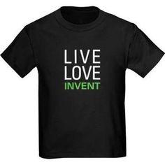 Live Love Invent Kids Dark T-Shirt