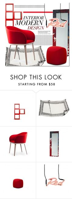 """""""Modern Decor"""" by lovethesign-eu ❤ liked on Polyvore featuring interior, interiors, interior design, home, home decor, interior decorating, Nodus, Casamania, modern and red"""