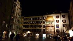Innsbruck by night: Goldenes Dachl / The Golden Roof Innsbruck, Austria, Photo Wall, Night, Frame, Photography, A Frame, Frames, Hoop