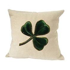 4eb0416398f Shamrock Holidays Sofa Bed Home Decor Faux Linen Pillow Cover (COVER ONLY)     Continue to the product at the image link. (This is an affiliate link and  I ...