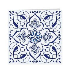 Blue Tile Motif attributed to Owen Jones