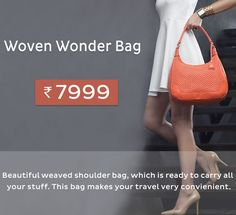 Beautiful weaved shoulder bag. The shape of the bag makes it look really classy. http://bit.ly/10oisXC