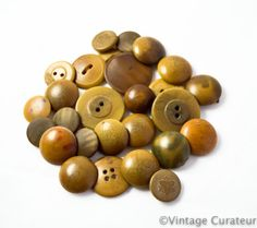 Vintage Vegetable Ivory Buttons Lot