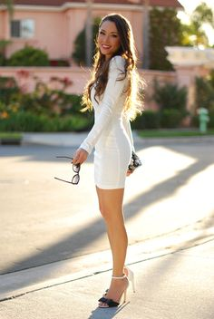 Jessica Ricks Source by onghuibeng corti Jessica Ricks, Tight Dresses, Sexy Dresses, Short Dresses, Nice Dresses, Sexy Legs And Heels, Hot High Heels, Mode Outfits, Sexy Outfits