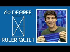 Man Sewing - 60 Degree Ruler Quilt Love the fabric - find a good stripe to do this
