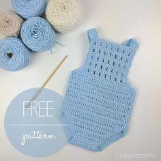 fde227fba0826 Crochet Baby Romper by Croby Patterns Crochet Onesie