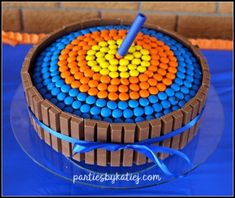 Nerf Gun Birthday Party Birthday Cake - luca - Best Picture For purple Birthday Cake For Your Taste You are looking for something, and it is going to tell yo Birthday Cake Kids Boys, Nerf Birthday Party, Cool Birthday Cakes, Nerf Party Food, Birthday Ideas, Birthday Party Desserts, Boys Bday Cakes, 9th Birthday Cake, Donut Party