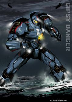 Totally enjoyed the movie, so excited to see this giant robots fighting the kaiju and save the world. Transformers, Pacific Rim Movie, Pacific Rim Jaeger, Gipsy Danger, Xenomorph, Robot Art, Monster, Crime, Digital Art