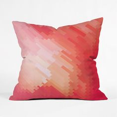 Artistically pixelated in a gentle gradation, this woven polyester throw pillow is a simple but powerful way to introduce coral into your home.  We love the way the multi-faceted hue adds a bit of moti...  Find the Fade to Coral Throw Pillow, as seen in the In Style: Coral & Turquoise Collection at http://dotandbo.com/collections/in-style-coral-and-turquoise?utm_source=pinterest&utm_medium=organic&db_sku=89495