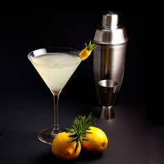 Lemontini. Lemon and rosemary team up for a super cocktail