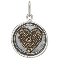 Wing and a Prayer Charm - Heart