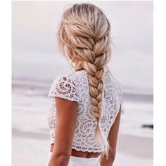 French braid from blowoutjunkie perfect for summer