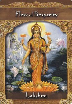 Lakshmi in Ascended Masters Oracle Cards by Doreen Virtue