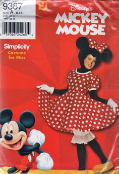 Simplicity 0613 9387 Disneys Adult Minnie Mouse Costume Pattern by Pattern Gate