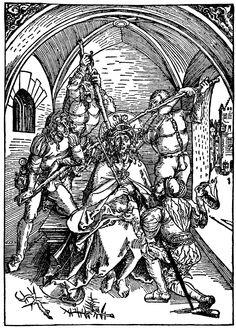 Artist: Dürer, Albrecht, Title: Die »Albertina-Passion«, Szene: Dornenkrönung Christi, Date: ca. 1495 - 1497