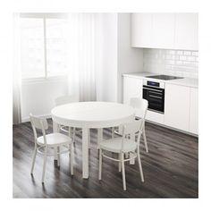BJURSTA Stół rozkładany, biały 74x115
