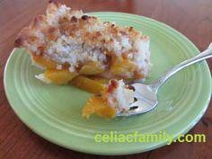 Easy Peach Crumb Pie -- gluten-free, dairy-free