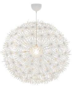 Dandilion Chandelier w/ lights from Ikea. So popular and beautiful.