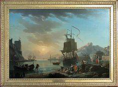 Joseph VERNET Avignon, 1714 - Paris, 1789  Marine, soleil couchant