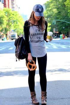 Calça feminina Modelo jogger Com punho Listra lateral Com ...